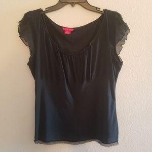 Sunny Leigh | Silk Black Blouse